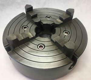 Kalamazoo 4 jaw Lathe Chuck 8 Diameter 2 1 2 8 Threaded Mount Fits Logan Lathe