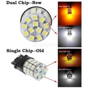 50x 7443 Switchback Dual Color White Amber Front Turn Light High Bright Car Led