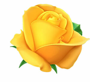 Yellow Rose Flower Decal 3m Usa Made Sticker Car Truck Window Wall Laptop