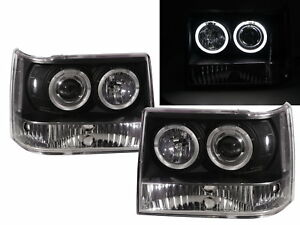 Grand Cherokee Zj Mk1 93 98 Suv Angel eye Projector Headlight Bk V2 For Jeep Lhd