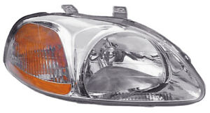 96 98 Honda Civic Sedan Hatchback Coupe Passenger Side Headlight
