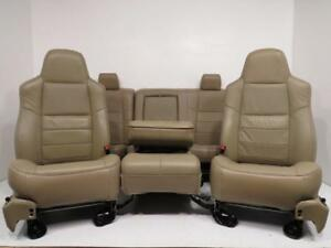 Ford F250 F350 Super Duty Seats Front And Rear With Center Jump Seat F550 F650