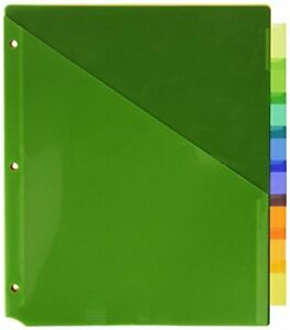 Avery Big Tab Insertable Two pocket Dividers 8 Multicolor Tabs pack Of 24