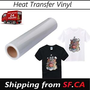 24in X 50ft White Eco solvent Printable Heat Transfer Pu Vinyl For Dark T shirt