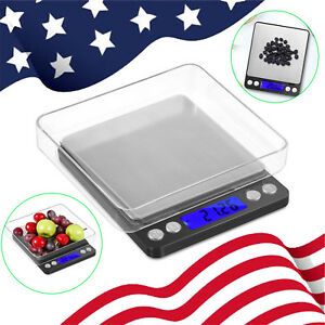 Mini Digital Electronic Scale Weighing Silver Jewelry Gold Herb Powder 0.1-500g