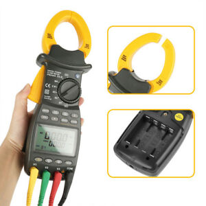 Peakmeter Ms2203 Professional 3 Phase Digital Clamp Meter Harmonic Power Tester