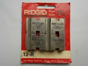 Ridgid 3 4 Npt 12 r Pipe Threading Dies Reversible O r 111 r 11 r 00 r 37830