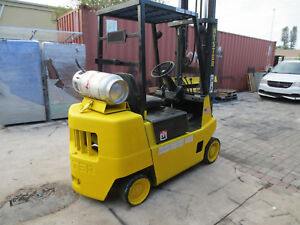 Hyster Forklift 5000lbs 3 Stage Mast Lpg Propane Fork Lift 1992 S50xl working
