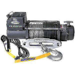 Superwinch 1595201 Tiger Shark 12v Winch 9500 Lb Load Capacity 80 Ft Rope