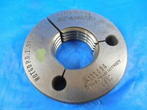 1 1 2 6 3a Thread Ring Gage 1 5 No Go Only P d 1 3856 Inspection Tooling