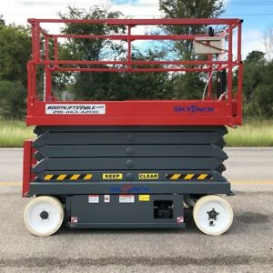 Skyjack 4632 Electric Scissor Lift 32 Platform refurbished Warranty Dealer