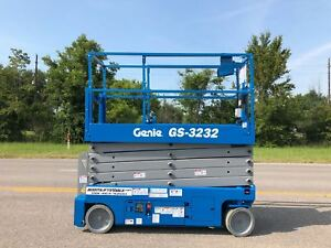 Genie 3232 Electric Scissor Lift refurbished Warranty Dealer Ie Jlg Skyjack