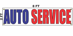 Auto Service Banner Sign 2x8 For Car Shop