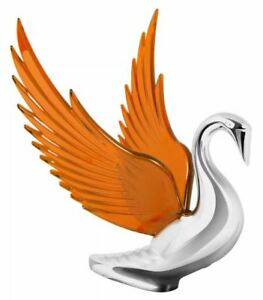 Hood Ornament Swan Bugler Chrome With Amber Windrider Wings Peterbilt Kw Fl