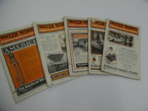 1924 Water Works Engineering Contracting Magazine Lot Sewer Construction Vintage