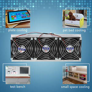 Trinuclear Thermoelectric Peltier Refrigeration Air Cooling System Kit Cooler Rh