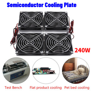 240w Semiconductor Refrigeration Thermoelectric Peltier Cold Plate Cooler Fan Rh