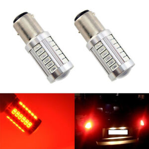 2 X Red Ba15s 1156 33smd Led Tail Bulb 5630 Car Fog Lamp Daytime Running Light