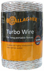 Gallagher G62054 Turbo Wire For Long Portable Fences Ultra White 656