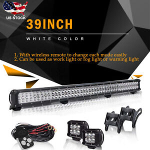 39 Inch 252w Cree Led Work Light Bar Truck Car Atv Suv 4x4 Jeep Truck Driving 40