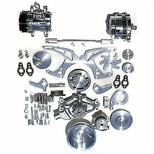 March Performance 21155 Style Track Serpentine Pulley bracket Kit For Chevy Sb