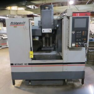 offer __ Bridgeport Interact 412v Cnc Vertical Machining Center Vmc