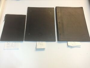 Lot Of 123 Leather Restaurant Menus With Tree Logo