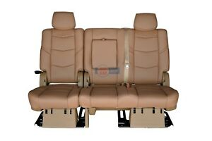 2015 2016 Escalade Esv 2nd Row Bench Seat In Maple Sugar Leather Full Power