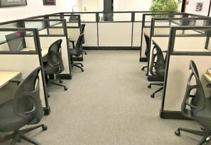 Lot Of Hon Office Telemarketing Call Center Cubicles Swivel Chairs Local P u