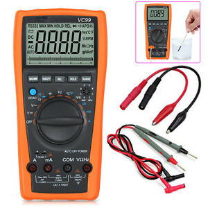 Vc99 3 5 6digital Auto Range Multimeter Thermometer Capacitance Resistance Meter