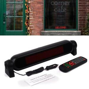 Car Led Sign Ir Remote Programmable Scrolling Red Message Display Screen Board