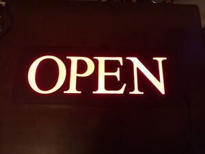 Newon 3656 High intensity Led Open Sign With 3 inch Font Red