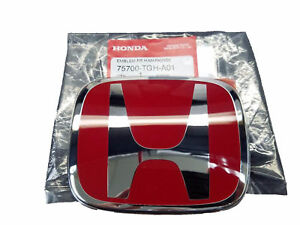 Honda Civic X Type R Front Red Emblem Fk8 Jdm H Genuine New 2017 Badge Type r
