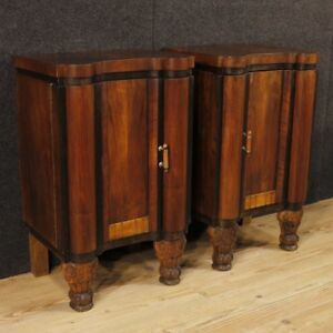 Nightstands Coffee Tables Couple Furniture Wooden Antique Style Art Deco 900 Xx