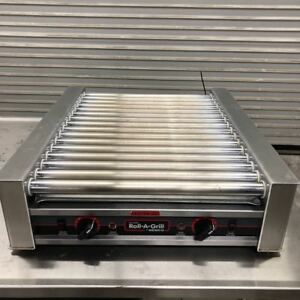 Hot Dog Roller Grill Display Narrow Broiler Nemco 8045n 9099 Broiler Nsf Cooker