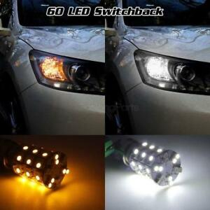 60 Led Amber White 1157 2507 Dual Color Switchback Front Turn Signal Light Bulb