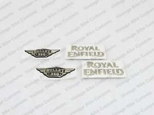 Royal Enfield Fuel Tank And Tool Box 350cc Golden Logo Sticker best Quality