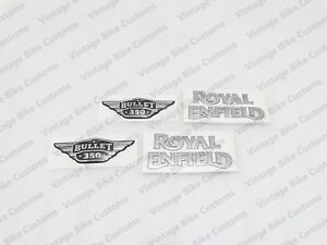 Royal Enfield Fuel Tank And Tool Box 350cc Silver Logo Sticker best Quality