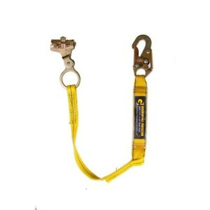 3 Ft Shock Absorbing Lanyard Fall Protection Rope Grab Safety Automatic Lock New