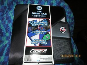 Case it Open Tab 3 inch Binder Assorted Colors shown In Picture