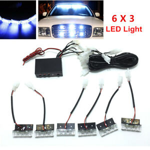 Car Suv 18 Led Strobe Emergency Flashing Warning Grill Light Lamps Bulbs Kits Fits More Than One Vehicle