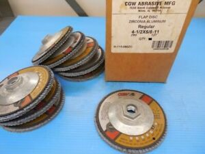 8 Pcs New Cgw Zirconia Aluminum Flap Disc 4 1 2 X 5 8 11 Regular T27 Z80 Tooling