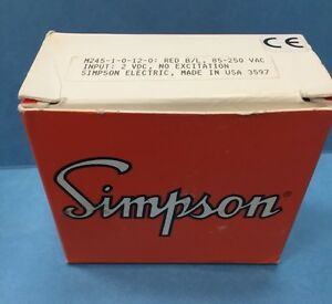 New In Box M245 1 0 12 0 Simpson Mini max Voltage Meter Indicator