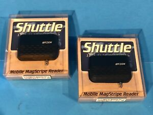 Lot Of 2 Shuttle Mobile Magstripe Credit Card Reader Brand New