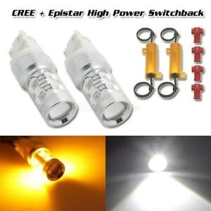 2x 4157 3157 Switchback Dual Color 50w Cree Led Turn Signal Light load Resistor