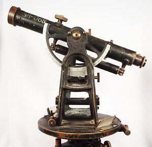 Going Going Gone transit Theodolite Antique 1900 s Superb Condition