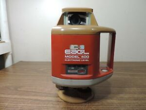 Agl Eagl Model 400 Electronic Level With Hard Case Survey Unit Laser