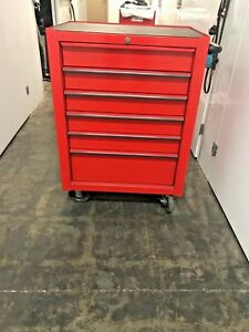 Snap on Tool Box Roll Cab Single Bank 6 Drawers Red