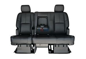 2011 2012 2013 2014 Suburban Tahoe 2nd Row Black Leather Bench Seat Full Power