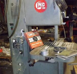 Grob 4v 18 18 Inch Vertical Bandsaw Band Saw W Blade Welder